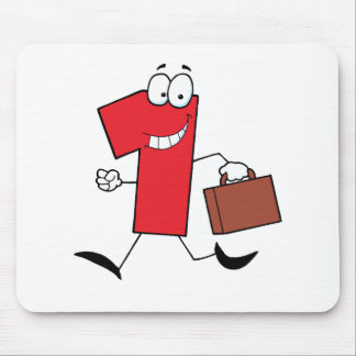 Business Number One Running With Suitcases Mouse Pad