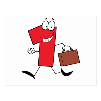 Business Number One Running With Suitcases Postcard