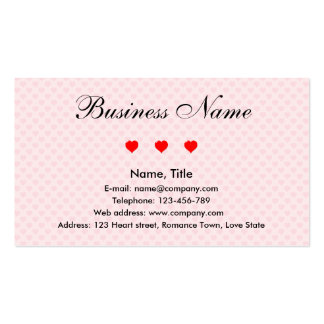Business of Romance Double-Sided Standard Business Cards (Pack Of 100)