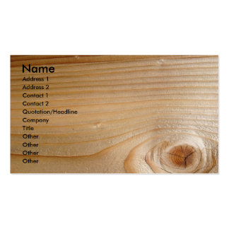 Business on Unfinished Wood Double-Sided Standard Business Cards (Pack Of 100)