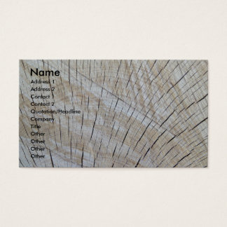 Business on Unfinished Wood - quartersawn Business Card