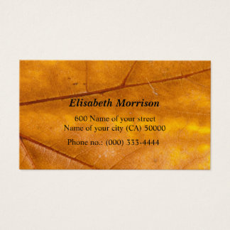Business one yellow and gold maple leaf business card
