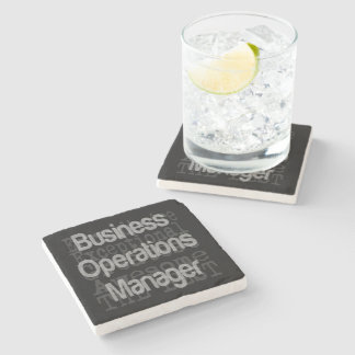 Business Operations Manager Extraordinaire Stone Coaster