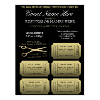 Business or Corporate w/Raffle Postcard