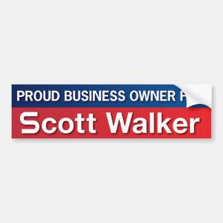 Business Owner for Scott Walker Car Bumper Sticker