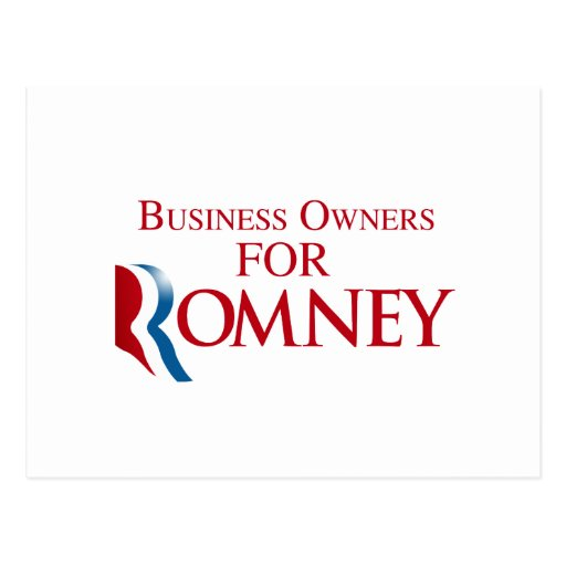 BUSINESS OWNERS FOR ROMNEY.png Postcard