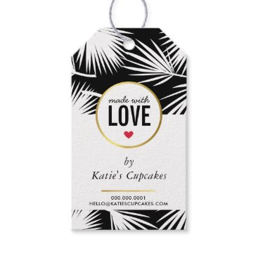 Professional Business BUSINESS PACKAGING made with love palm leaves Gift Tags