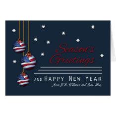 Business Patriotic Season's Greetings U.s. Flag Card at Zazzle