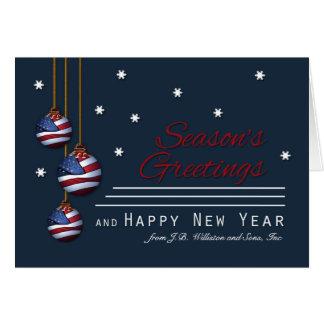 Business Patriotic Season's Greetings U.S. Flag Card