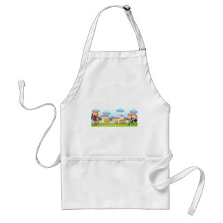 Business people adult apron