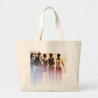 Business People Background as a Group Smiling Large Tote Bag