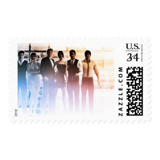 Business People Background as a Group Smiling Postage