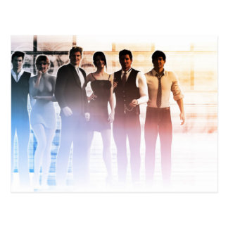 Business People Background as a Group Smiling Postcard