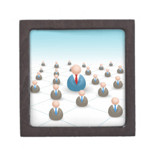 Business People Communication Network Gift Box