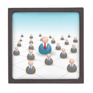 Business People Communication Network Jewelry Box