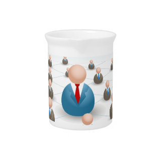 Business People Communication Network Pitcher