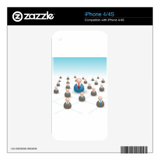 Business People Communication Network Skins For The iPhone 4S