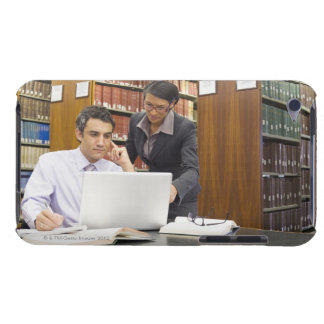 Business people doing research in library barely there iPod case