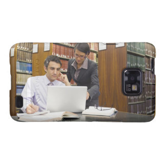 Business people doing research in library samsung galaxy s2 cases
