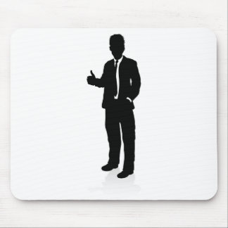 Business People Silhouette Mouse Pad