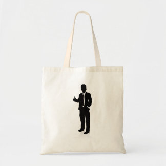 Business People Silhouette Tote Bag