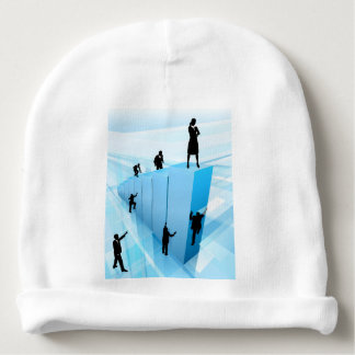 Business People Silhouettes Success Concept Baby Beanie