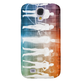 Business People Standing in a Row Confident Samsung Galaxy S4 Case