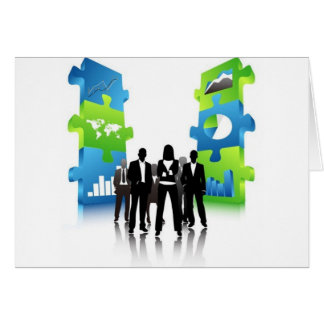Business-People-Team-with-3D-Puzzle-Pieces BUSINES Card