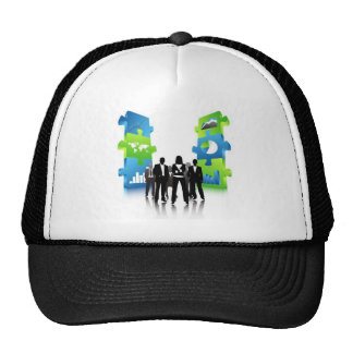 Business-People-Team-with-3D-Puzzle-Pieces BUSINES Trucker Hats