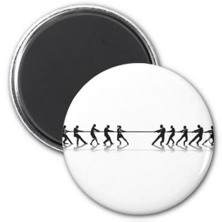Business people tug of war competition refrigerator magnets