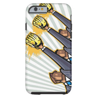 Business people wearing baseball glove tough iPhone 6 case