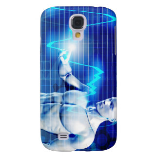 Business Person Touching Active Charts and Diagram Galaxy S4 Cover