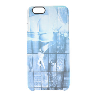 Business Person Working with Modern Virtual Techno Clear iPhone 6/6S Case