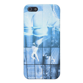 Business Person Working with Modern Virtual Techno Cover For iPhone SE/5/5s