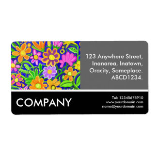 Business Photo - Flowers Shipping Labels