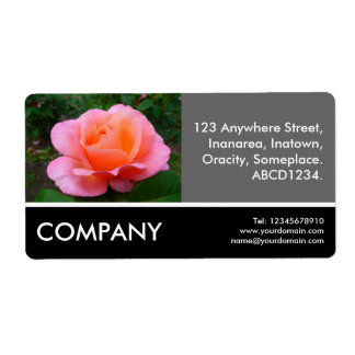 Business Photo - Pink Rose Personalized Shipping Label