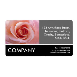 Business Photo - Pink Rose Personalized Shipping Labels