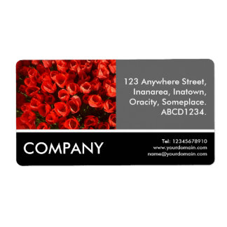 Business Photo - Red Tulips Shipping Label