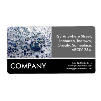 Business Photo - Soap Suds Shipping Label