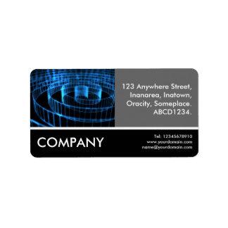 Business Photo - Spiral Custom Address Label