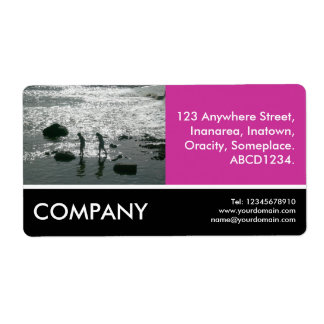 Business Photo - Stepping Stones - Deep Rese Label