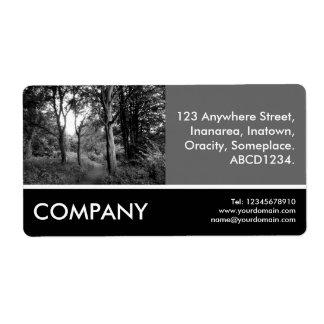 Business Photo - Woodland Shipping Label