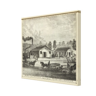Business places of Rogers & Co and Sullivan & Co Canvas Print