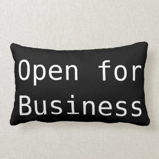 'Business' Polyester Lumbar Pillow