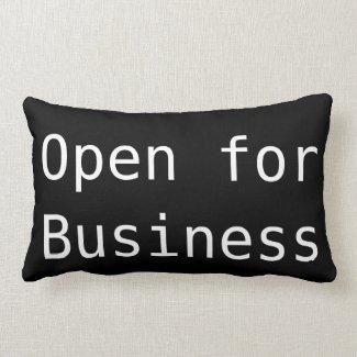 'Business' Polyester Lumbar Pillow