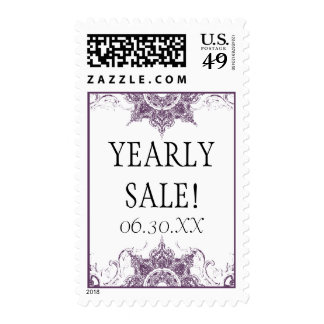 Business Postage Stamps Toile Damask Swirl Floral