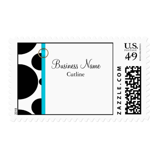 Business Postage Template **Black Circles
