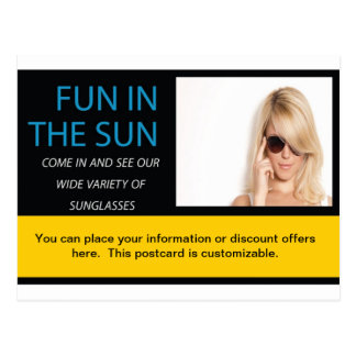 Business Postcard Sunglasses Ad