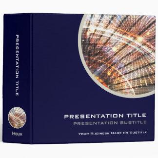 Business Presentation 0100101   Code Binary 3 Ring Binder