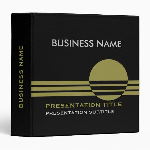Business Presentation Binders black olive green
